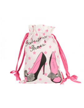 Satin shoe bag
