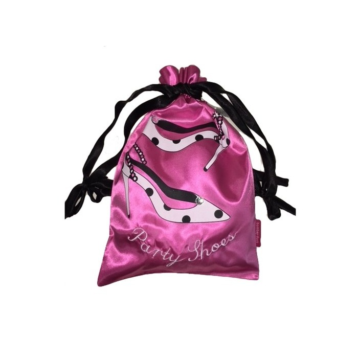 Satin party shoe bag
