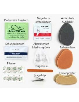 Shoe cushion & mini pedicure kit