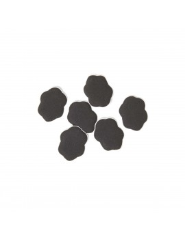 FootPetals mini shoe cushions in black - 6 pieces / pack