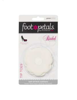 Ball of foot cushions in bridal white
