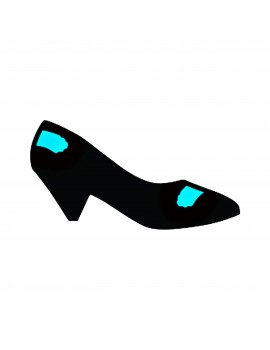 Heel guard in black