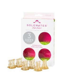 Absatzschutz 3er Pack goldglitter