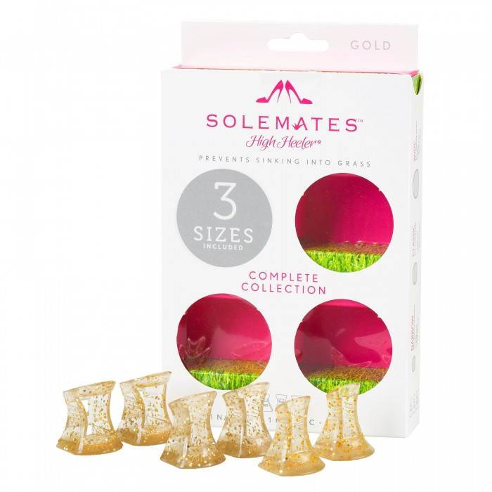 Solemates Triple Pack gold glitter